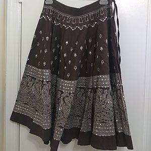 Sequin flowing skirt